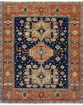 Antique Serapi Heriz 15 prg Blue