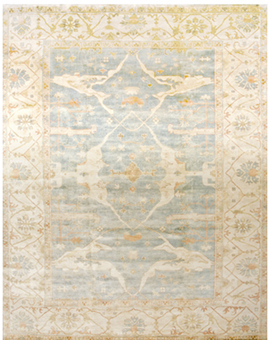 Demirji Oushak Collection Oushak oj-14 prg Light Blue Ivory