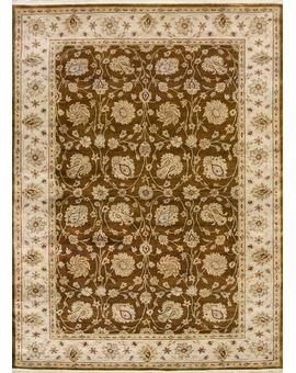 Silk Loom Tabriz con Brown Ivory