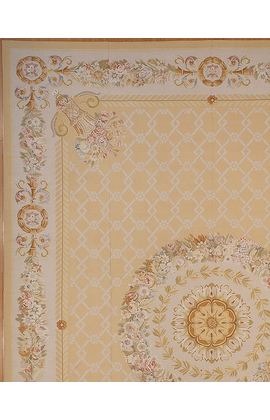 Renaissance Pile Aubusson.Yellow/Ivory