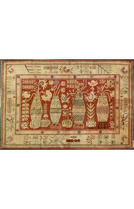 Vintage Pictorial Khotan Rug Circa 1920