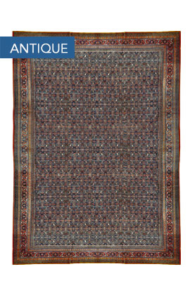 Antique Persian Fine Tabriz Rug Circa 1900
