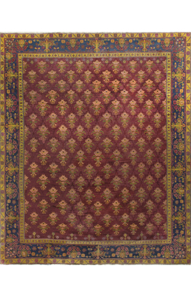 Antique Indian Agra Rug Circa 1900