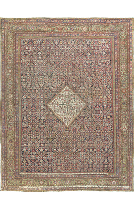 Antique Persian Fereghan.Rug Circa 1890