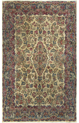 Vintage Persian Kirman Rug Circa 1930