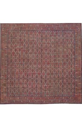 Antique Cotton Agra Rug Circa 1880