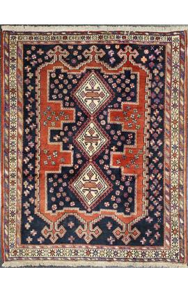 Vintage Persian Afshar Rug Circa 1940