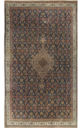 Antique Fine Quality Bibikabad Rug Circa 1900