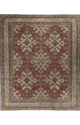 Antique Persian Kirman Rug Circa 1900