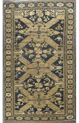 Antique Caucasian Leski Rug Circa 1890