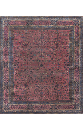 Antique Persian Kirman Rug Circa 1900