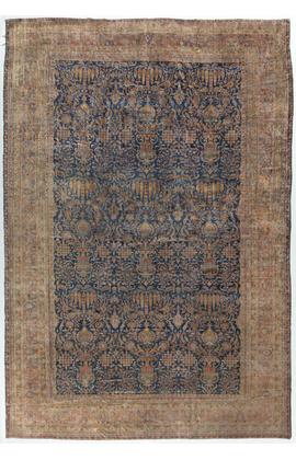 Antique Persian Manchester Kashan Rug Circa 1890.