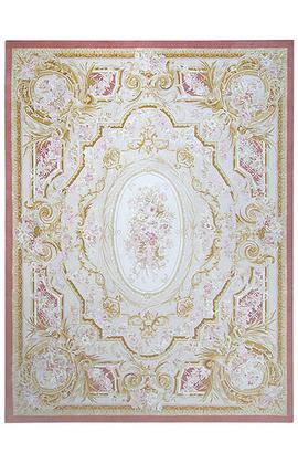 Renaissance Pile Aubusson.Ivory/Red