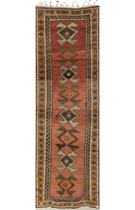 Vintage Turkish Anatolian Runner Circa 1940