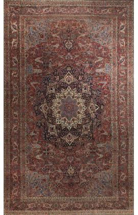 Antique Dabir Kashan Circa 1900