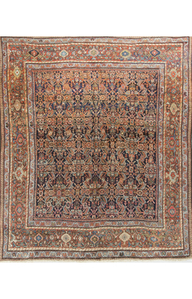 Antique Persian Fereghan Rug Circa 1890
