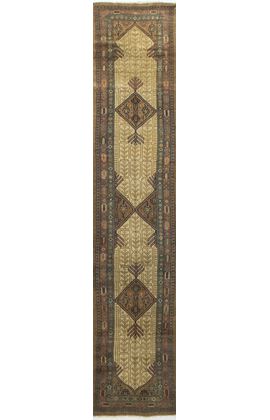 Antique Persian Camel Hair Runner Circa 1900