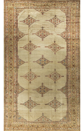 Antique  Persian Bibikabad Rug Circa 1900.