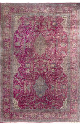 Antique Persian Kashan Rug Circa 1890