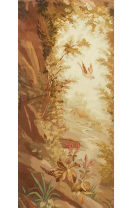 A French Rustic Tapestry panel from the late 19th century.