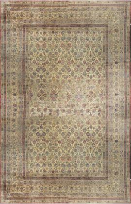 Antique Persian Kirman Lavar Rug Circa 1890