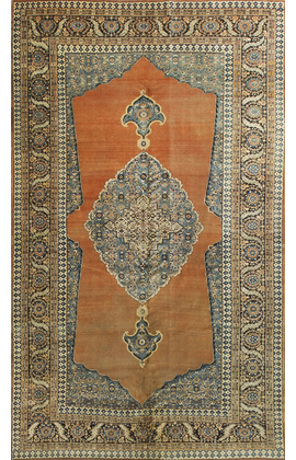Antique Persian Haji-Jalili Tabriz Circa 1890