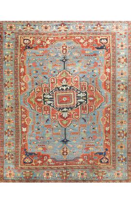 Antique Persian Heriz Serapi Rug Circa 1890