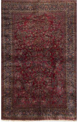 Antique Persian Manchester Kashan Circa 1900