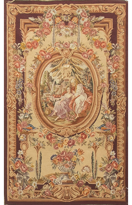 Antique French Tapestry Panel Circa 1890
