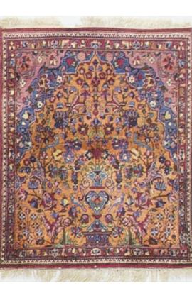 Antique Persian Silk Tabriz Circa 1900