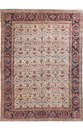 Vintage Persian Kashan Rug Circa 1920