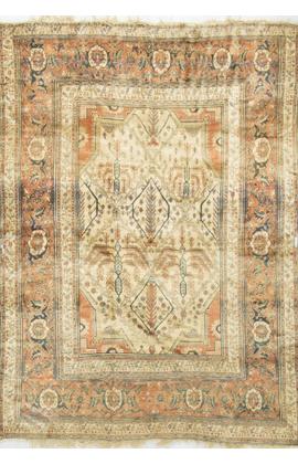 Antique Persian Silk Heriz Circa 1900