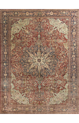 Antique Persian Sarouk Feraghan Circa 1890
