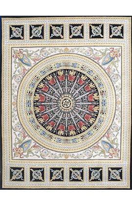 Renaissance Pile Aubusson.Ivory/Black
