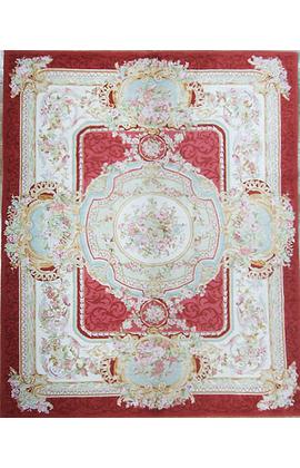 Renaissance Pile Aubusson.Red/Ivory