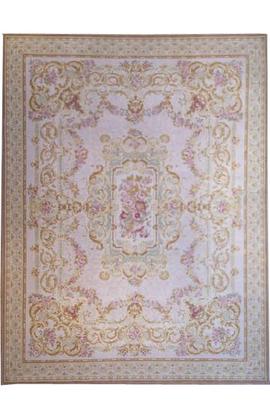 Renaissance Pile Aubusson. Peach/Ivory