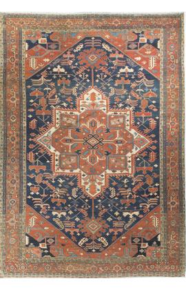 Antique Persian Serapi Heriz Circa 1900