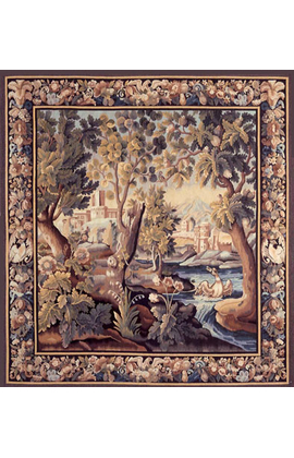 Recreation of an 18th century Verdure, Landscape Tapestry
