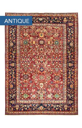 Antique Persian Sultanabad Rug Circa 1900