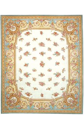 Renaissance Pile Aubusson.Ivory/Blue