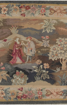 Antique French Handloomed Tapestry circa 1890