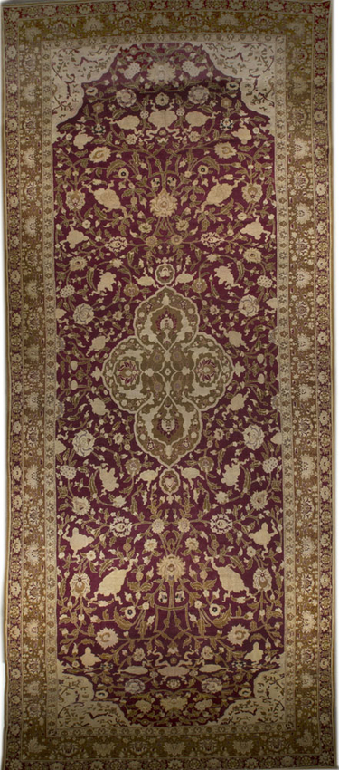 Antique Indian Agra Rug Circa 1890
