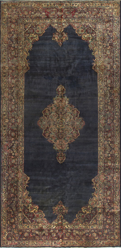 Vintage Persian Kazvin Rug Circa 1940.
