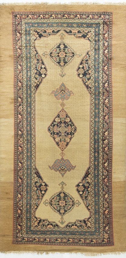 Antique Persian Camel Hair Circa 1900
