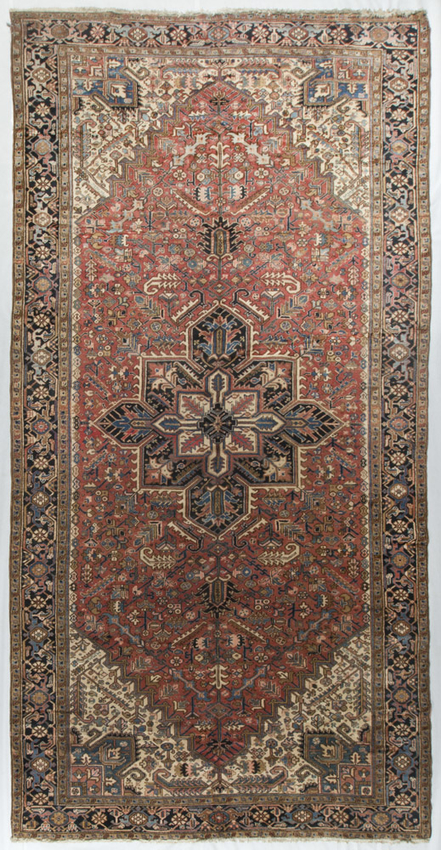 Antique Persian Heriz.Rug Circa 1900