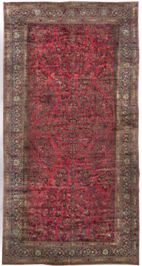 Oversize Persian Meshad Rug Carpet Circa 1900