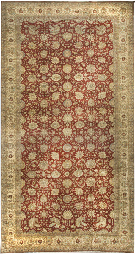 Indo Collection Agra  Rust/Ivory