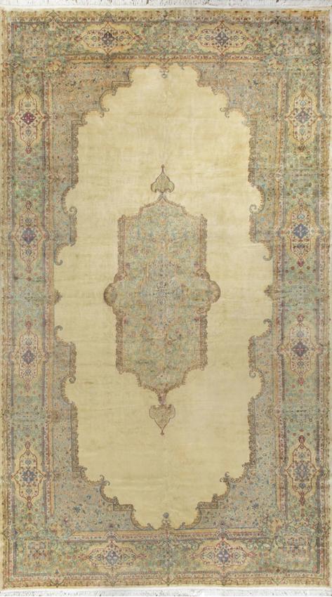 Vintage Persian Kirman Rug,Circa 1960.