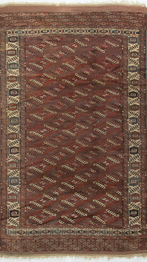 Antique Turkoman Yomut Rug Circa 1890