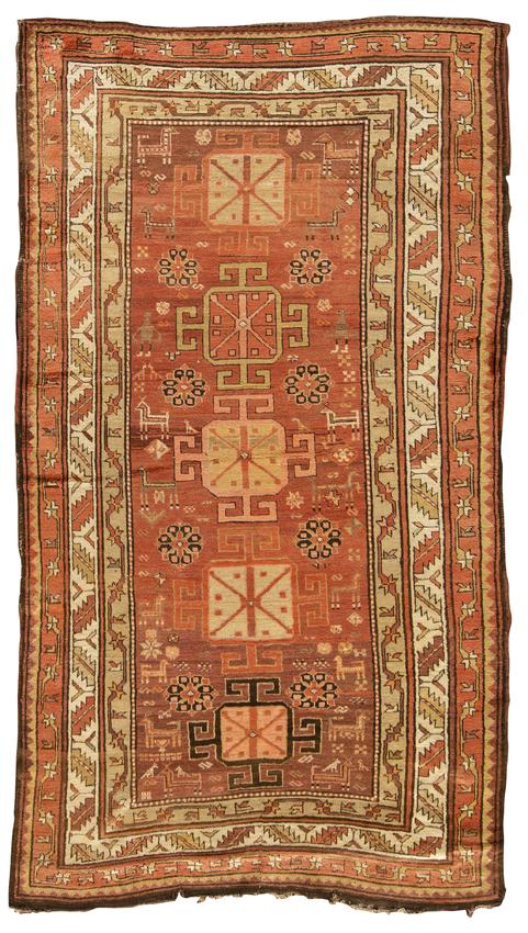 Antique Caucasian Kazak Circa 1890